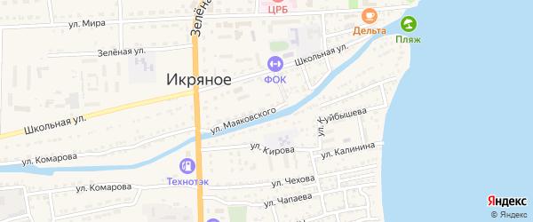 Улица Маяковского на карте Икряного села с номерами домов
