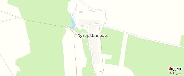 Зеленая улица на карте хутора Шинеры с номерами домов