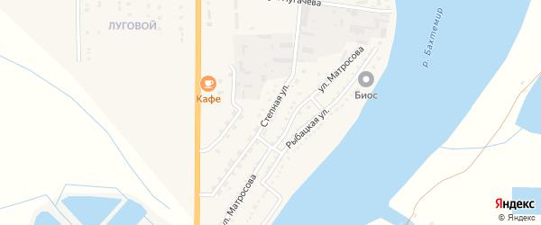 Степная улица на карте Икряного села с номерами домов