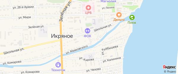 Переулок Кирова на карте Икряного села с номерами домов