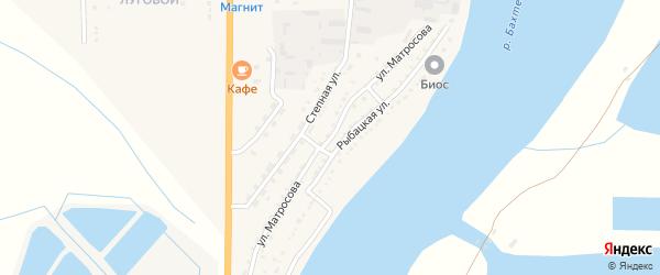 Улица Матросова на карте Икряного села с номерами домов