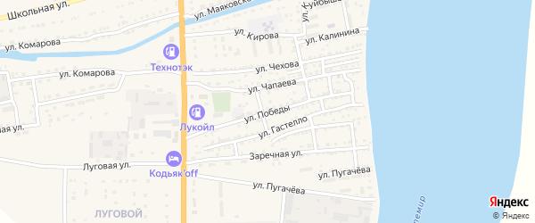Улица Победы на карте Икряного села с номерами домов