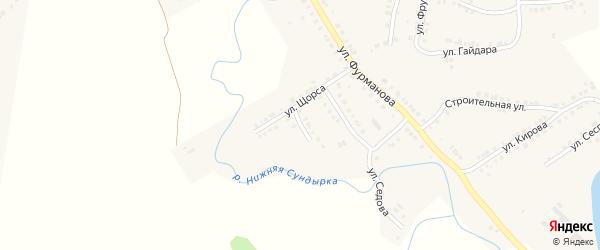 Речная улица на карте Мариинского Посада с номерами домов