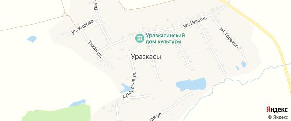 Улица Горького на карте деревни Уразкас с номерами домов