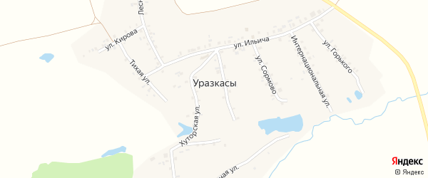 Улица Сормово на карте деревни Уразкас с номерами домов
