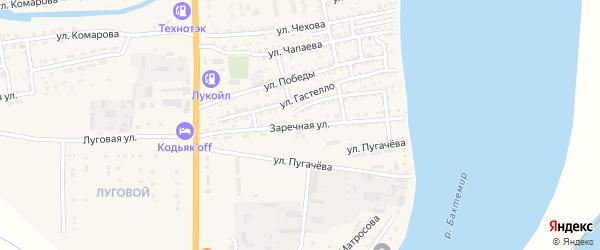 Заречная улица на карте Икряного села с номерами домов