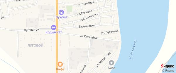 Улица Пугачева на карте Икряного села с номерами домов