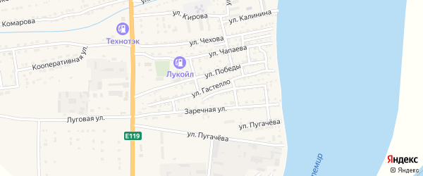 Улица Гастелло на карте Икряного села с номерами домов
