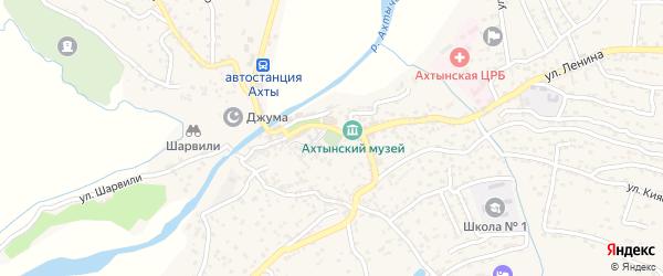 Улица Речная 2 на карте села Ахт с номерами домов