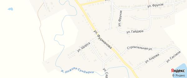 Улица Щорса на карте Мариинского Посада с номерами домов