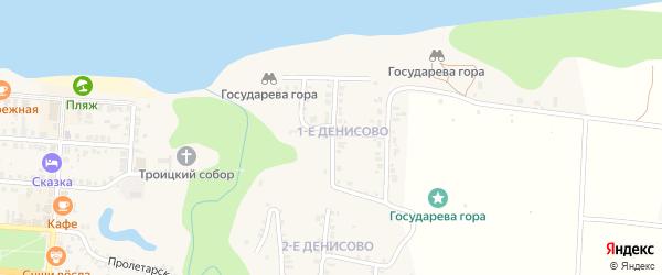Улица 1 Денисово на карте Мариинского Посада с номерами домов