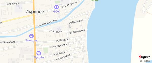 Улица Калинина на карте Икряного села с номерами домов