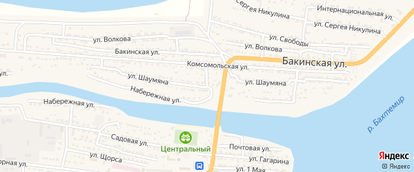 Улица Шаумяна на карте Икряного села с номерами домов