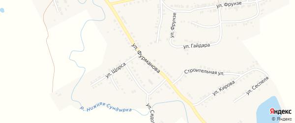Улица Фурманова на карте Мариинского Посада с номерами домов