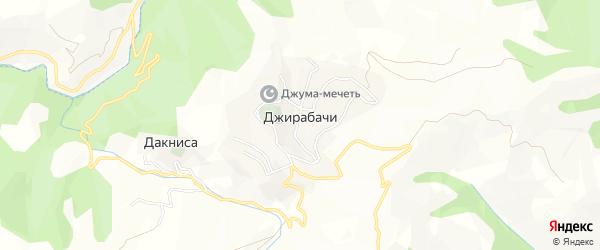 Карта села Джирабачей в Дагестане с улицами и номерами домов