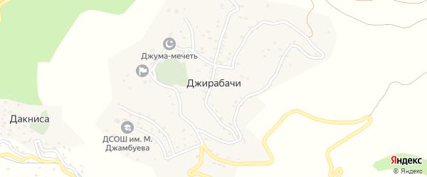 Центральная улица на карте села Джирабачей с номерами домов