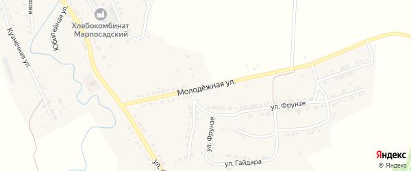 Молодежная улица на карте Мариинского Посада с номерами домов