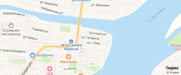 Улица Гагарина на карте Икряного села с номерами домов