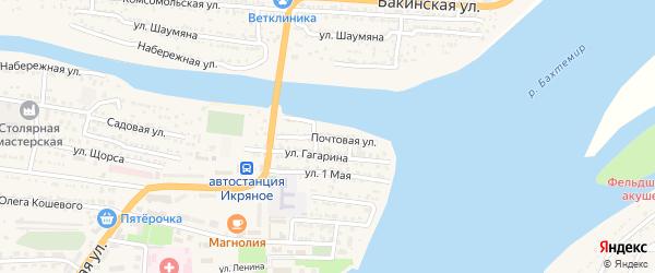 Почтовая улица на карте Икряного села с номерами домов