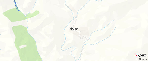 Карта села Фите в Дагестане с улицами и номерами домов