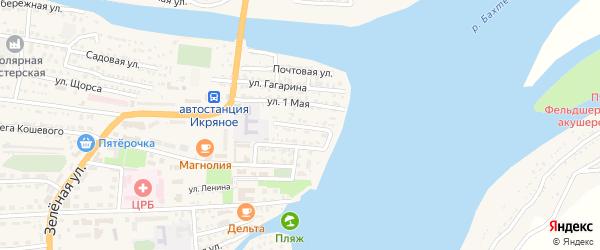 Крупская улица на карте Икряного села с номерами домов