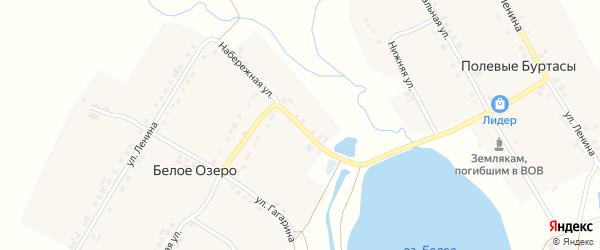 Набережная улица на карте деревни Белого Озера с номерами домов
