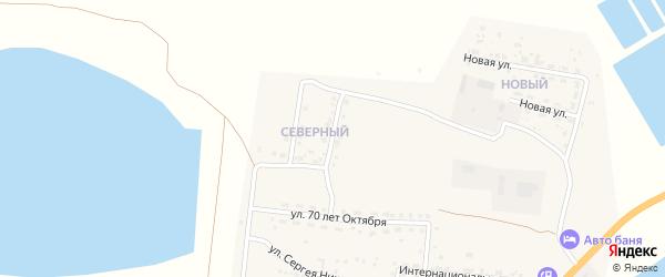 Северная улица на карте Икряного села с номерами домов