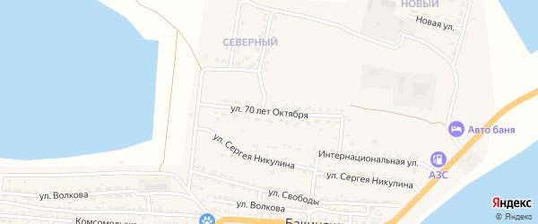Улица 70 лет Октября на карте Икряного села с номерами домов