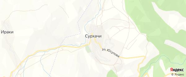 Карта села Сурхачи в Дагестане с улицами и номерами домов
