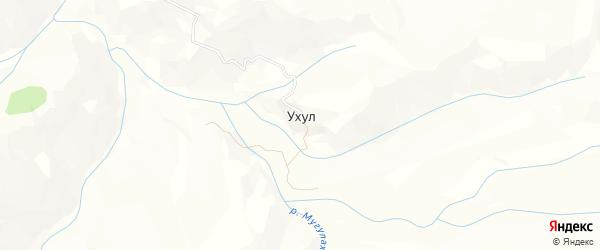 Карта села Ухула в Дагестане с улицами и номерами домов