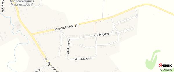 Улица Фрунзе на карте Мариинского Посада с номерами домов