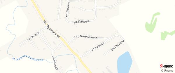 Строительная улица на карте Мариинского Посада с номерами домов