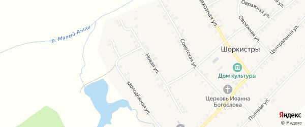 Новая улица на карте села Шоркистры с номерами домов