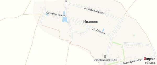 Первомайская улица на карте деревни Иваново с номерами домов