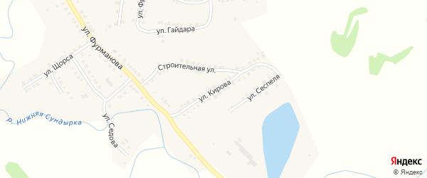 Улица Кирова на карте Мариинского Посада с номерами домов