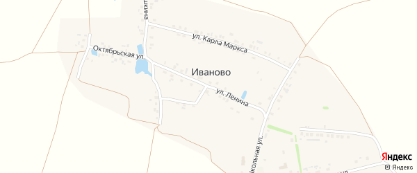 Улица Ленина на карте деревни Иваново с номерами домов