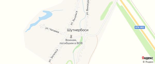 Улица Энгельса на карте деревни Шутнербосей с номерами домов