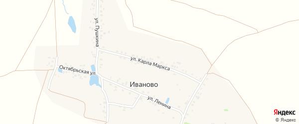 Улица К.Маркса на карте деревни Иваново с номерами домов