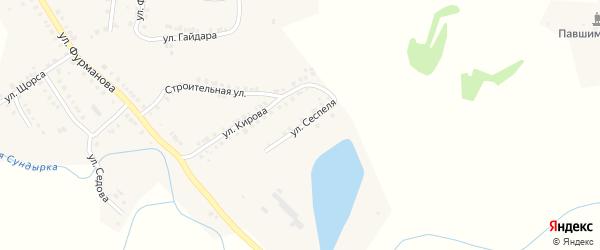 Улица Сеспеля на карте Мариинского Посада с номерами домов