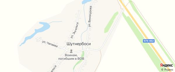 Улица Винокурова на карте деревни Шутнербосей с номерами домов