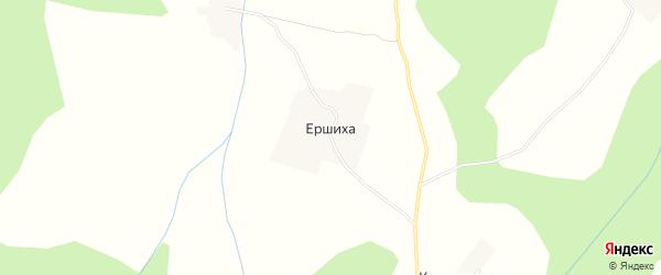 Карта деревни Ершихи в Архангельской области с улицами и номерами домов