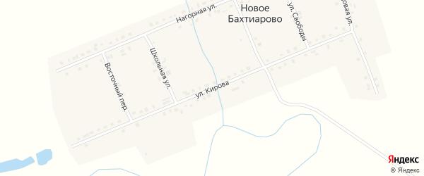 Улица Кирова на карте деревни Новое Бахтиарово с номерами домов
