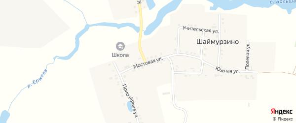 Мостовая улица на карте деревни Шаймурзино с номерами домов