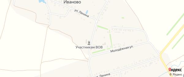Школьная улица на карте деревни Иваново с номерами домов
