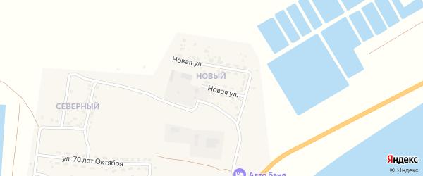 Новая улица на карте Икряного села с номерами домов