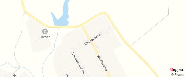 Школьная улица на карте деревни Полевые Буртасы с номерами домов