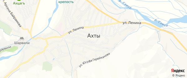 Карта села Ахт в Дагестане с улицами и номерами домов