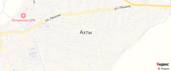 Улица Хрюгского на карте села Ахт с номерами домов