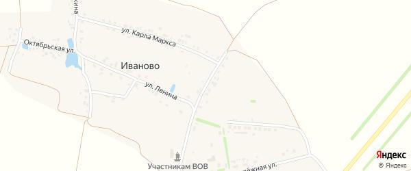 Кооперативная улица на карте деревни Иваново с номерами домов
