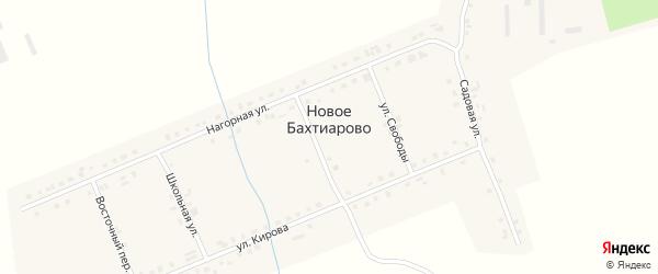 Улица Свободы на карте деревни Новое Бахтиарово с номерами домов